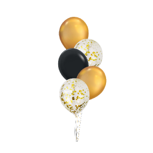 Chrome & Confetti Balloons - Balloon Bouquet Melbourne Delivery