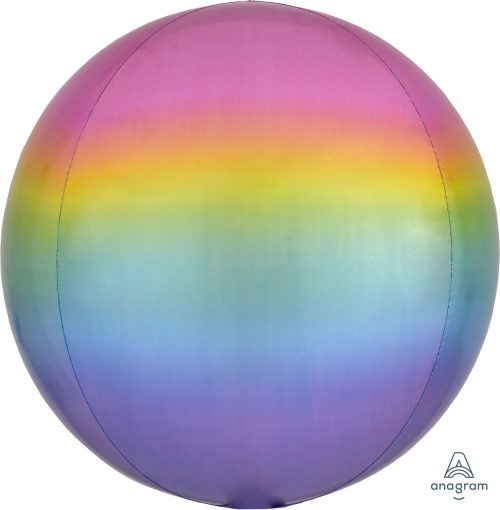 Rainbow Ombre Orbz Chrome Balloon Bouquet - Birthday Balloon Delivery Melbourne