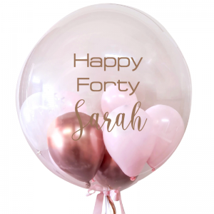 Personalised Bubble Balloon with mini-balloons - Balloon Delivery Melbourne