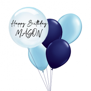 Blue Clearz with Balloon Bouquet Combo - Birthday Balloon Delivery Melbourne
