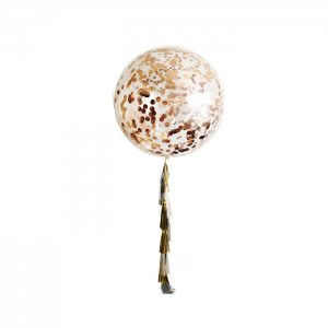 Rose Gold Jumbo Confetti Balloons with Tassels - Birthday Balloon Delivery Melbourne