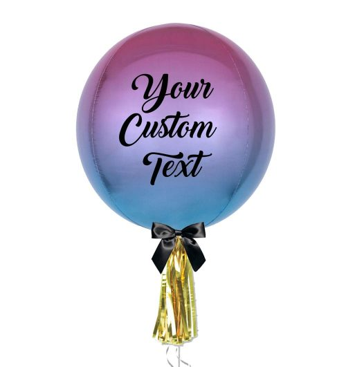 Customised Ombre Orbz Jumbo Balloon - Personalised Balloons Melbourne