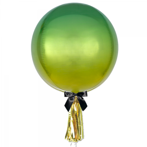 Greenish Yellow Ombre Orbz Jumbo Balloon - Birthday Balloon Delivery Melbourne