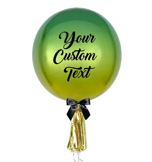 personalised ombre orbz jumbo balloon - Personalised Balloons Melbourne