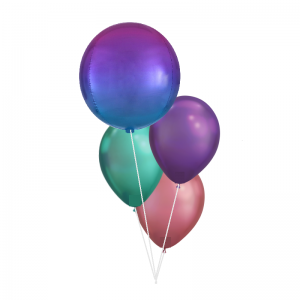 Ombre Orbz Chrome Balloon Bouquet - Birthday Balloon Delivery Melbourne