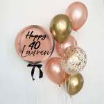 Personalised Orbz with Balloon Bouquet - Birthday Balloon Delivery Melbourne