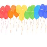 Standard Chrome Confetti Colours Loose Balloon - Balloon Delivery Melbourne