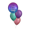 Personalised Ombre Orbz Chrome Balloon Bouquet - Birthday Balloon Delivery Melbourne