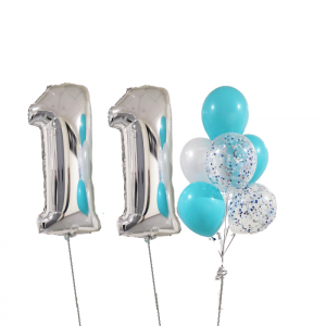 2 Giant Number 1 Balloon Bouquet - Balloon Combo Melbourne Delivery