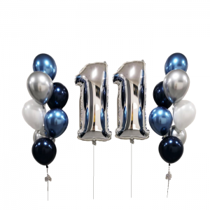 2 Giant Number 2 Balloon Bouquet - Balloon Combo Melbourne Delivery