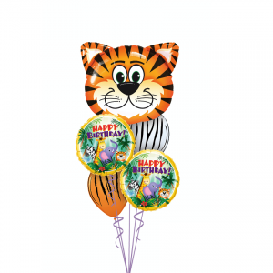 Tickled Tiger Birthday Balloon Bouquet Melbourne Delivery
