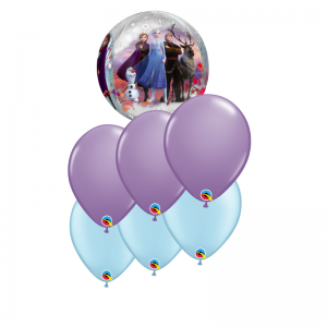 Frozen Orbz Balloon Bouquet - Birthday Balloon Bouquet Melbourne Delivery