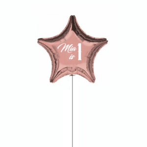 Rose Gold Personalised Jumbo Foil Balloon - Personalised Balloons Melbourne Delivery