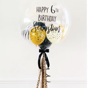 Helium-filled Personalised Animal Print Mini Balloons - Personalise Balloons Melbourne